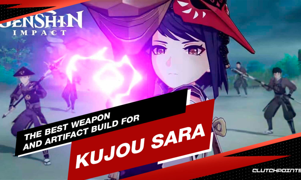 Kujou Sara Guide, Weapon Build Kujou Sara, Artifact Build Kujou Sara, Kujou Sara Genshin Impact, Genshin Impact Guides