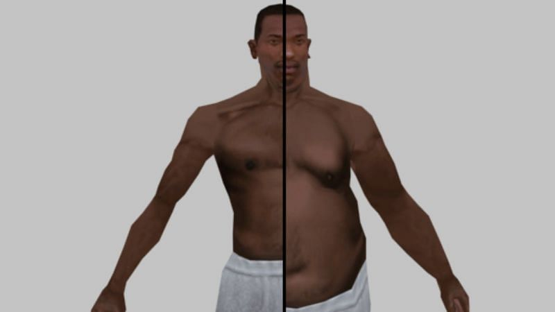 CJ being either fat or muscular is a good example of a feature that is rarely utilized (Image via MarkNiko)