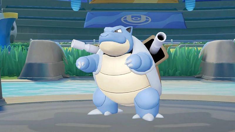 Blastoise is the fourth Water-type Pokemon introduced in Pokemon Unite (Image via TiMi Studios)