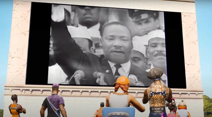 """""""Fortnite"""" célébrera """"la vie et l'héritage"""" de Martin Luther King Jr."""