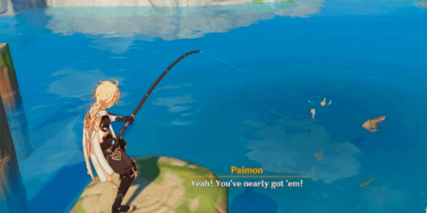 Genshin Impact 2.1 : le nouveau gameplay de pêche expliqué