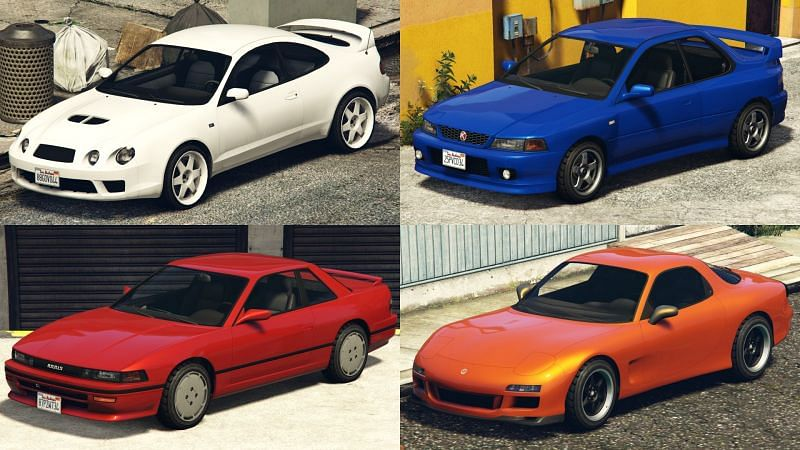 Some of the best cars from the Los Santos Tuners update (Images via Rockstar Games)