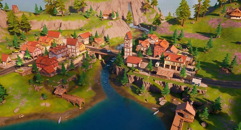 Misty Meadows, according to in-game files that have been uncovered by data miners, is likely getting destroyed. (Image via Epic Games)