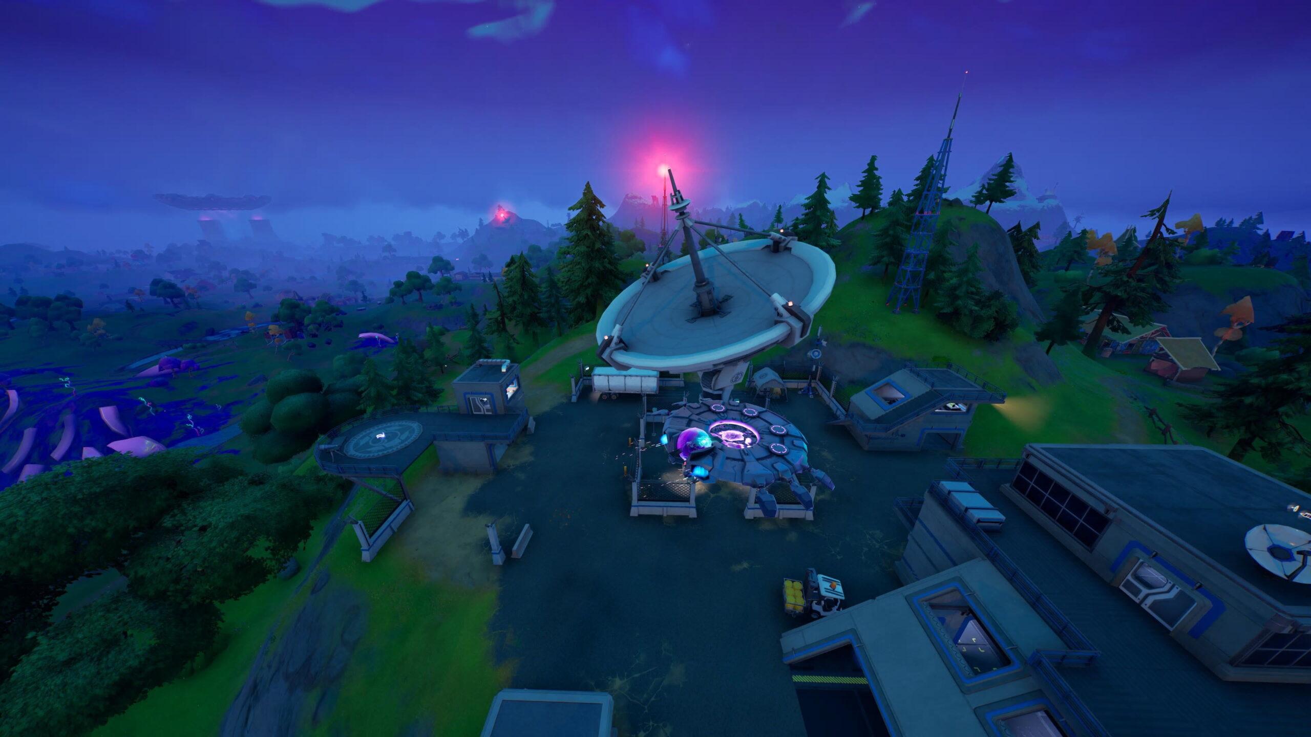 Fortnite Saison 7, Semaine 13 Défi: Visitez les bases de paraboles radar