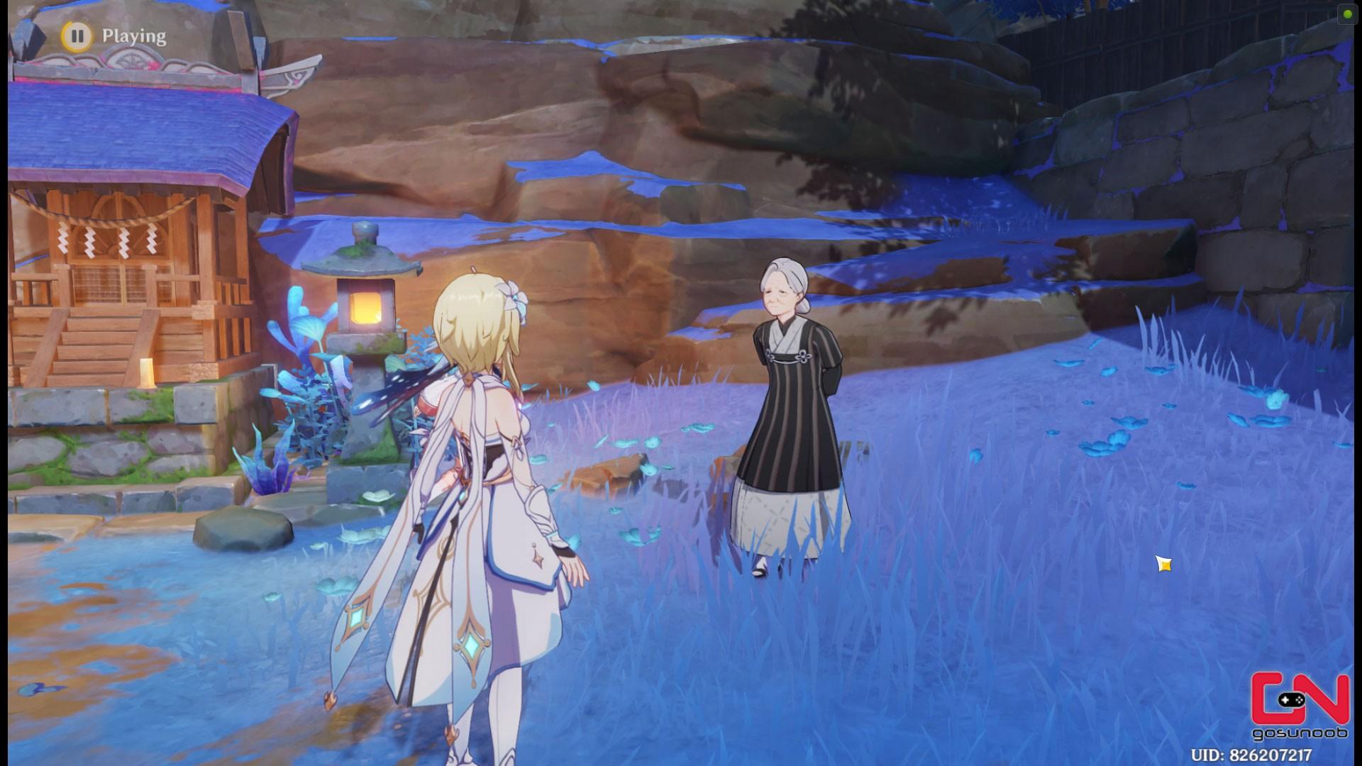 Grotte de Komaki de l'Ill Fortune Emplacement Genshin Impact