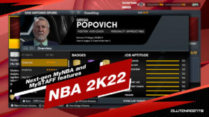 NBA 2K22 MyNBA, NBA 2K22 MySTAFF