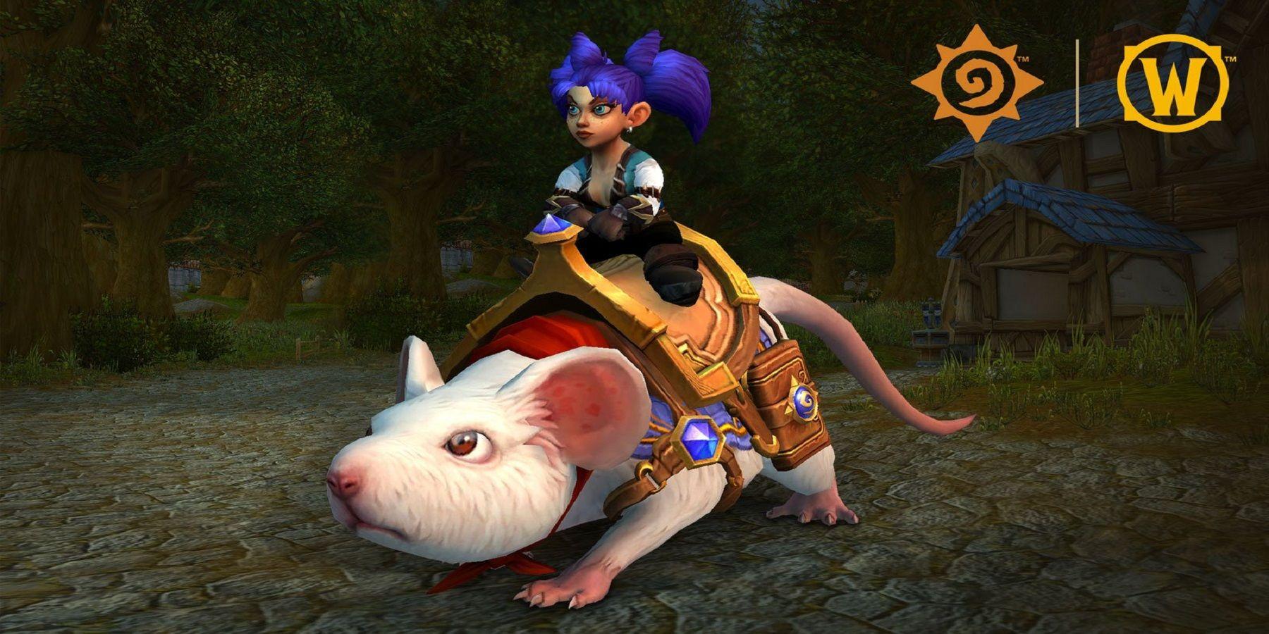World of Warcraft Fan Edit apporte une grande amélioration à la nouvelle monture Hearthstone